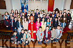 CONFIRMATION: Confirmed in St. Mary's Church Castlegregory on Monday were pupils from Aughasla National School, Castlegregory NS, and  Cloghane NS by Bishop Ray Browne