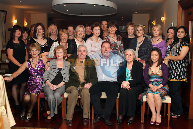 Tommy Boylan with staff from St.Mary's and The Cottage Hospital at his retirement party in Hanratty's...(Photo credit should read Jenny Matthews www.newsfile.ie)....This Picture has been sent you under the condtions enclosed by:.Newsfile Ltd..The Studio,.Millmount Abbey,.Drogheda,.Co Meath..Ireland..Tel: +353(0)41-9871240.Fax: +353(0)41-9871260.GSM: +353(0)86-2500958.email: pictures@newsfile.ie.www.newsfile.ie.