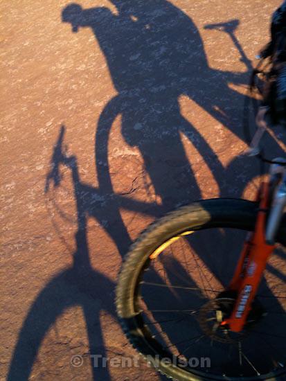 . Saturday, October 17 2009.trent shadow, slickrock bike trail.