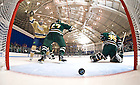 Dec. 12, 2010; Hockey goal vs. Northern Michigan..Photo by Matt Cashore/University of Notre Dame..