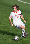 Wisconsin Badgers midfielder Jon Rzepka (16) handles the ball during an NCAA soccer game against the Michigan Wolverines at the McClimon Memorial Track/Soccer Complex in Madison, Wisconsin on October 10, 2010. Michigan beat Wisconsin 3-2. (Photo by David Stluka)