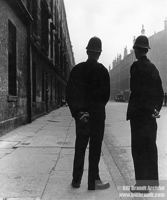 Two policemen in street 1940s