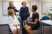 "July 12, 2011.""Chuck Kennedy covered the funeral of former First Lady Betty Ford at St. Margaret's Episcopal Church in Palm Desert, California.  In attendance were three former First Ladies as well as the current First Lady, all shown here backstage, from left: Nancy Reagan, Hillary Rodham Clinton, Rosalynn Carter and Michelle Obama."" .Mandatory Credit: Chuck Kennedy - White House via CNP"