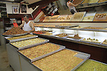 Israel, the market of Old Acco, a sweets shop