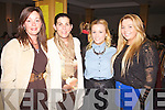 Enjoying the Fashion Show at the Waterville Lake Hotel on Friday in aid of the Waterville Childrens Festival were l-r; Colette Murphy, Miriam Courtney, Katie O'Connell & Karen O'Neill.