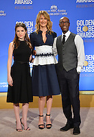 Actors Don Cheadle, Laura Dern &amp; Anna Kendrick at the nominations announcement for the 74th Golden Globe Awards at the Beverly Hilton Hotel, Beverly Hills, CA.<br /> December 12, 2016<br /> Picture: Paul Smith/Featureflash/SilverHub 0208 004 5359/ 07711 972644 Editors@silverhubmedia.com