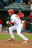 Peoria Chiefs third baseman Ildemaro Vargas #13 during a game against the Wisconsin Timber Rattlers on May 25, 2013 at Dozer Park in Peoria, Illinois.  Peoria defeated Wisconsin 6-0.  (Mike Janes/Four Seam Images)