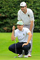 Andrew McCormack (Castletroy) on the 17th green during the AIG Barton Shield Munster Final 2018 at Thurles Golf Club, Thurles, Co. Tipperary on Sunday 19th August 2018.<br /> Picture:  Thos Caffrey / www.golffile.ie<br /> <br /> All photo usage must carry mandatory copyright credit (© Golffile   Thos Caffrey)