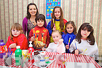Children attending Doireann Barretts Art classes at Denny Street on Friday from Left, Elsa Leen, Doireann Barrett, Jack Barrett Rowan, Claudia Duffy, Lilou La Prince, Lola Rose La Prince, Iseualt Ni Lionsaigh.