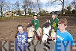 Pictured are members of the Kingdom Branch of the Irish Pony Club, who are taking part in International Mountain Games in Scotland on May 3rd, were l-r: Shauna Aherne, John Aherne, Patrick Fitzgerald and Niall Durkin..