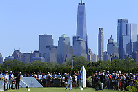 Hideki Matsuyama (JPN) in action during the third round of the Northern Trust, played at Liberty National Golf Club, Jersey City, New Jersey, USA 10/08/2019<br /> Picture: Golffile | Michael Cohen<br /> <br /> All photo usage must carry mandatory copyright credit (© Golffile | Phil Inglis)
