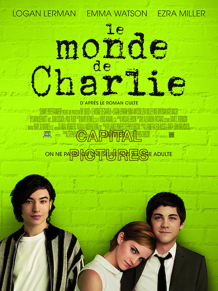 FRENCH POSTER ART<br /> in The Perks of Being a Wallflower (2012) <br /> (Le monde de Charlie)<br /> *Filmstill - Editorial Use Only*<br /> CAP/NFS<br /> Image supplied by Capital Pictures