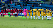 23rd March 2018, Ullevaal Stadion, Oslo, Norway; International Football Friendly, Norway versus Australia; both team observe a one minutes silence