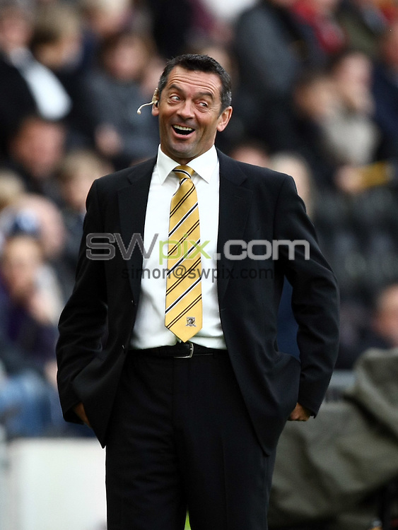 PICTURE BY VAUGHN RIDLEY/SWPIX.COM - Football - Barclays Premier League - Hull City v Wigan - KC Stadium, Hull, England - 03/10/09...Copyright - Simon Wilkinson - 07811267706...Hull's Manager Phil Brown.