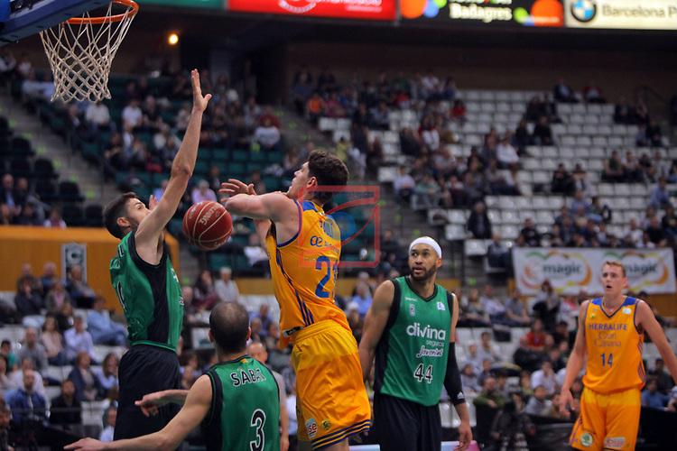 League ACB-ENDESA 2016/2017. Game: 28.<br /> Divina Seguros Joventut vs Herbalife Gran Canaria: 86-72.<br /> Sergi Vidal, Albert Sabat &amp; Oriol Pauli.