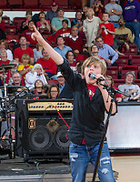 WJM performance during halftime at Saturday's, March 1, 2014, Stanford women's basketball  vs Washington State game at Maples Pavilion, at Stanford, California.