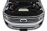 Car Stock 2018 Ford Expedition XLT 5 Door SUV Engine  high angle detail view