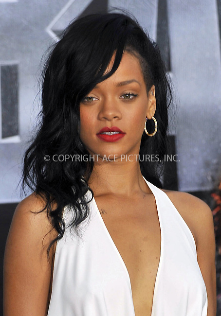 WWW.ACEPIXS.COM . . . . .  ....May 10 2012, LA....Rihanna arriving at the premiere of 'Battleship' at the NOKIA Theatre on May 10 2012 in LA. ....Please byline: PETER WEST - ACE PICTURES.... *** ***..Ace Pictures, Inc:  ..Philip Vaughan (212) 243-8787 or (646) 769 0430..e-mail: info@acepixs.com..web: http://www.acepixs.com