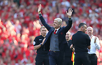 Arsenal manager Arsene Wenger acknowledges the crowd prior to kick-off<br /> <br /> Photographer Rob Newell/CameraSport<br /> <br /> The Premier League - Arsenal v Burnley - Sunday 6th May 2018 - The Emirates - London<br /> <br /> World Copyright &copy; 2018 CameraSport. All rights reserved. 43 Linden Ave. Countesthorpe. Leicester. England. LE8 5PG - Tel: +44 (0) 116 277 4147 - admin@camerasport.com - www.camerasport.com