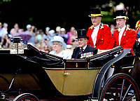 17 June 2017 - London, England - Queen Elizabeth II and Prince Philip, Duke of Edinburgh. The ceremony of the Trooping the Colour, marking the monarch's official birthday, in London. Photo Credit: PPE/face to face/AdMedia