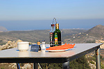 Terrace restaurant reserved table with view, Mirador del Coll de Rates, Tarbena, Marina Alta, Alicante province, Spain