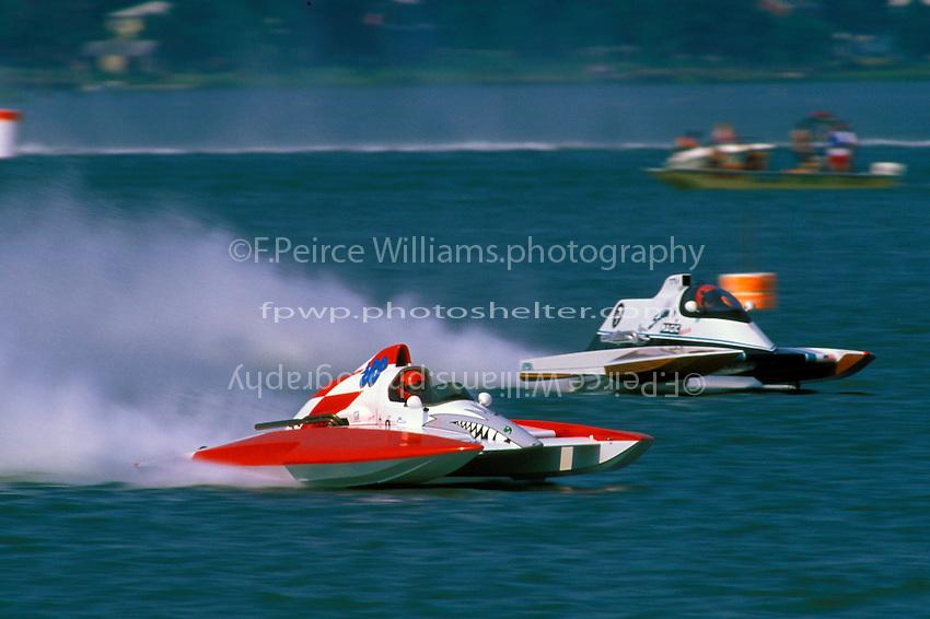 "Steve Linn, A-63 and Tom Thompson, A-7 ""Southern Magic"", Hampton, VA 1997  (2.5 MOD class hydroplane(s)"