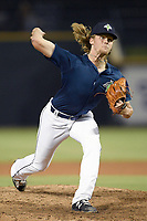 Pitcher Christian Tripp (33) of the Columbia Fireflies pitched two scoreless innings in his Class A debut in a game against the Lexington Legends on Friday, June 14, 2019, at Segra Park in Columbia, South Carolina. (Tom Priddy/Four Seam Images)