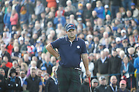 Patrick Reed (USA) during the Saturday Fourball Matches of the Ryder Cup at Gleneagles Golf Club on Saturday 27th September 2014.<br /> Picture:  Thos Caffrey / www.golffile.ie