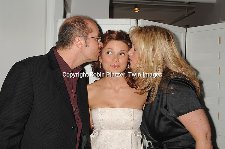 "Mandy Bruno and parents Bruce and Diann..at The Opening night of the new Off-Broadway Musical ""Frankenstein""  on November 1, 2007 at The 37 Arts Theatre and at the party at Studio 450. Mandy Bruno of Guiding Light is one of the stars of the show. ....Robin Platzer, Twin Images..212-935-0770"