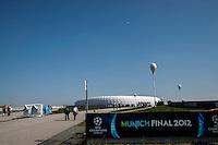 MUNIQUE, ALEMANHA, 19 DE MAIO DE 2012 - LIGA DOS CAMPEOES FINAL - BAYERN  DE MUNIQUE X CHELSEA - Vista do estadio Allianz Arena em Munique na Alemanha na manha deste sabado , onde acontece a partida final da Liga dos Campeoes da Europa, entre Bayern de Munique x Chesea. (FOTO: WILLIAM VOLCOV / BRAZIL PHOTO PRESS).