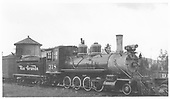 3/4 engineer's-side view of D&amp;RGW #318 at Gunnison<br /> D&amp;RGW  Gunnison, CO  Taken by Maxwell, John W. - 6/5/1940