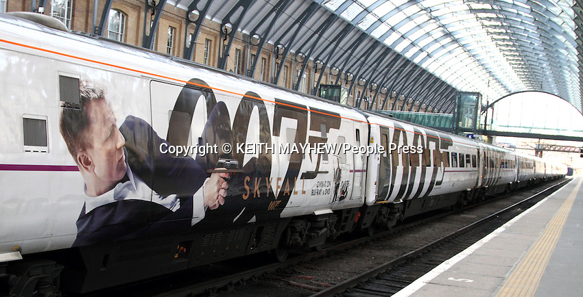 New James Bond 'Skyfall' liveried train at Kings Cross railway station, London - February 28th 2013..Photo by Keith Mayhew