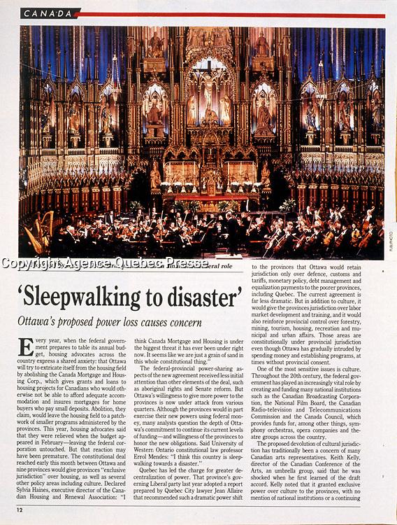Publication dans Maclean's<br /> <br /> <br /> Photo : Pierre Roussel