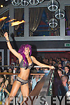 Excotic Dancers to entertain the large crowd at the opening night of Benners Hotel Night Club on Monday night..
