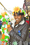 Dorcas Nylovu who marched with KASI at the Killarney St Patricks day parade on Saturday