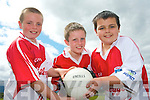 GAA stars at the Kilcummin GAA Cúl Camp last week. .L-R Darren Lehane, Con Fleming and Sean Cronin.