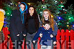 Enjoying  the Listowel Xmas lights on Sunday were Ciara Sweeney, Martina Bajgerova, Keefa Ceary and Garry Lee Ceary