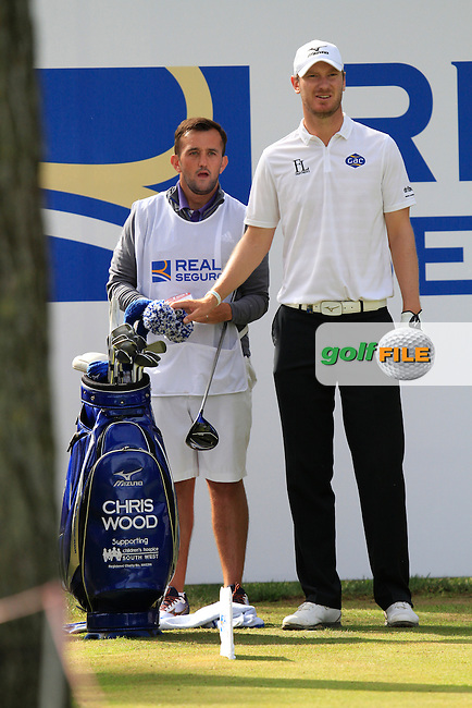Chris Wood (ENG) on the 7th tee during the Pro-Am of the Open de Espana  in Club de Golf el Prat, Barcelona on Wednesday 13th May 2015.<br /> Picture:  Thos Caffrey / www.golffile.ie