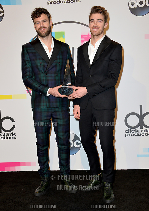 Chainsmokers at the 2017 American Music Awards at the Microsoft Theatre LA Live, Los Angeles, USA 19 Nov. 2017<br /> Picture: Paul Smith/Featureflash/SilverHub 0208 004 5359 sales@silverhubmedia.com