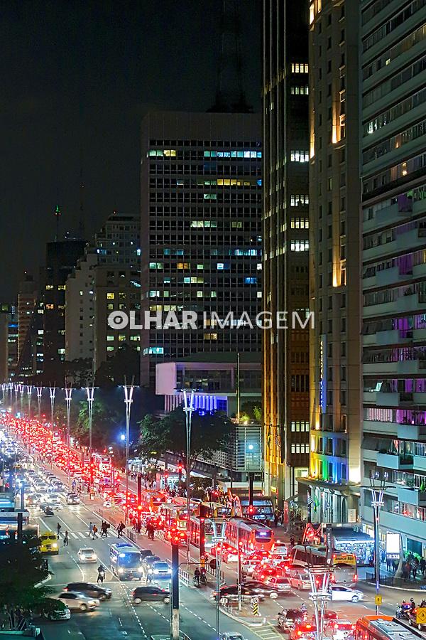 Predios da  Avenida Paulista, Sao Paulo. 2019. Foto de Juca Martins