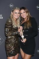 LOS ANGELES - NOV 10:  Tanya Rad, Becca Tilley at the 2019 People's Choice Awards at Barker Hanger on November 10, 2019 in Santa Monica, CA