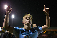 Blackpool's Mark Cullen celebrates after the match<br /> <br /> Photographer Craig Mercer/CameraSport<br /> <br /> The EFL Sky Bet League Two Play-Off Semi Final Second Leg - Luton Town v Blackpool - Thursday 18th May 2017 - Kenilworth Road - Luton<br /> <br /> World Copyright &copy; 2017 CameraSport. All rights reserved. 43 Linden Ave. Countesthorpe. Leicester. England. LE8 5PG - Tel: +44 (0) 116 277 4147 - admin@camerasport.com - www.camerasport.com