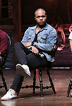 Sean Green Jr., druring the eduHAM Q & A with the cast of Broadway's 'Hamilton' at The Richard Rodgers Theatre on April 25, 2018 in New York City.