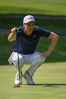 Ross Fisher (ENG) lines up his putt on 1 during round 3 of the World Golf Championships, Mexico, Club De Golf Chapultepec, Mexico City, Mexico. 3/3/2018.<br /> Picture: Golffile | Ken Murray<br /> <br /> <br /> All photo usage must carry mandatory copyright credit (&copy; Golffile | Ken Murray)