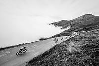 coming down the last climb of the 2018 Tour: the Col d'Aubisque (HC/1709m/16.6km@4.9%)<br /> <br /> Stage 19: Lourdes &gt; Laruns (200km)<br /> <br /> 105th Tour de France 2018<br /> &copy;kramon