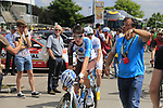 Romain Bardet (FRA) AG2R La Mondiale at sign on in Mondorf-les-Bains before the start of Stage 4 of the 104th edition of the Tour de France 2017, running 207.5km from Mondorf-les-Bains, Luxembourg to Vittel, France. 4th July 2017.<br /> Picture: Eoin Clarke | Cyclefile<br /> <br /> <br /> All photos usage must carry mandatory copyright credit (&copy; Cyclefile | Eoin Clarke)