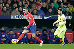 Club Atletico de Madrid's Lucas Hernandez and Futbol Club Barcelona's Leo Messi (R)  during La Liga match. November 24,2018. (ALTERPHOTOS/Alconada)