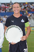 Freedom forward Abby  Wambach receiving the induction of Hall of Freedom on behalf of David Valone former Assistant coach from the freedom   The LA Sol defeated the Washington Freedom 1-0 at the Maryland Soccerplex, Sunday July 5, 2009.
