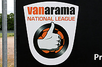 Signage at Vanarama National League football club Braintree Town FC as football matches are suspended during the COVID-19 pandemic and lockdown