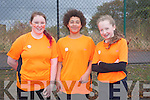Bronwyn Foley, Tennyson Barry, Alice Dwyer at the Mercy Mounthawk School Fun Run to promote the Cycle Against Suicide Campaign on Friday